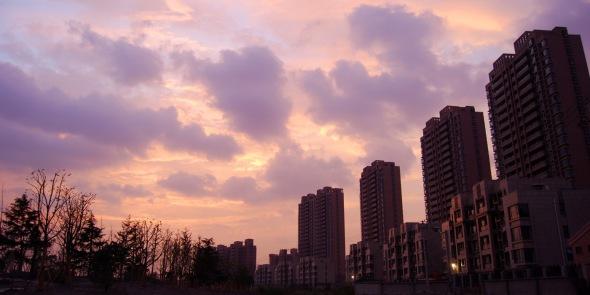 Urban skyline with beautiful sky photography
