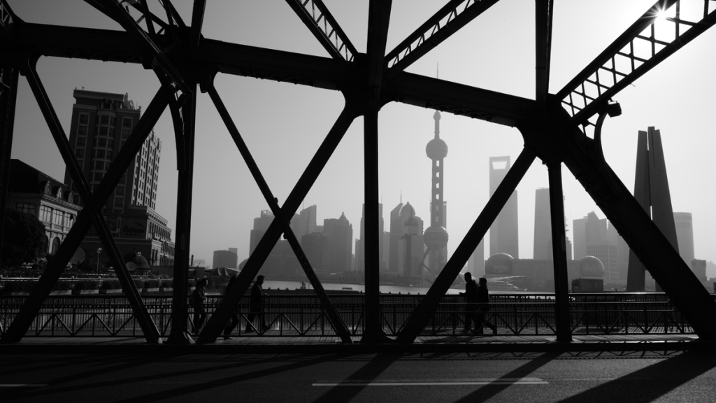 Oldest Historical Steel Bridge of Shanghai, Huangpu River
