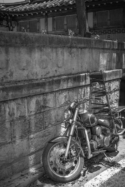 Old rustic motorbike