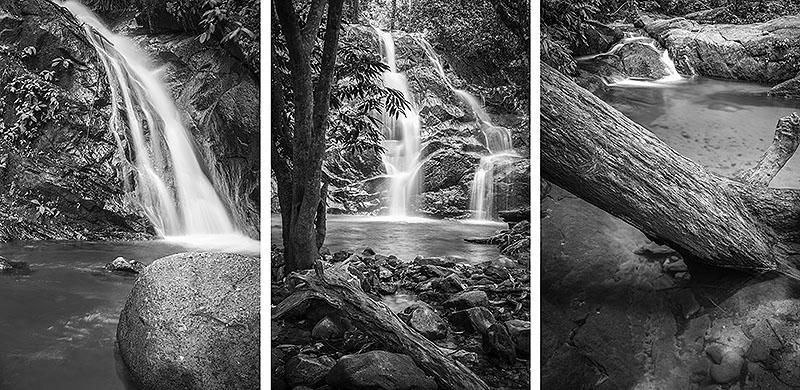 Breathtaking landscape waterfall fine art photograph