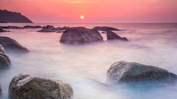 Evening Dew, sunset scenery