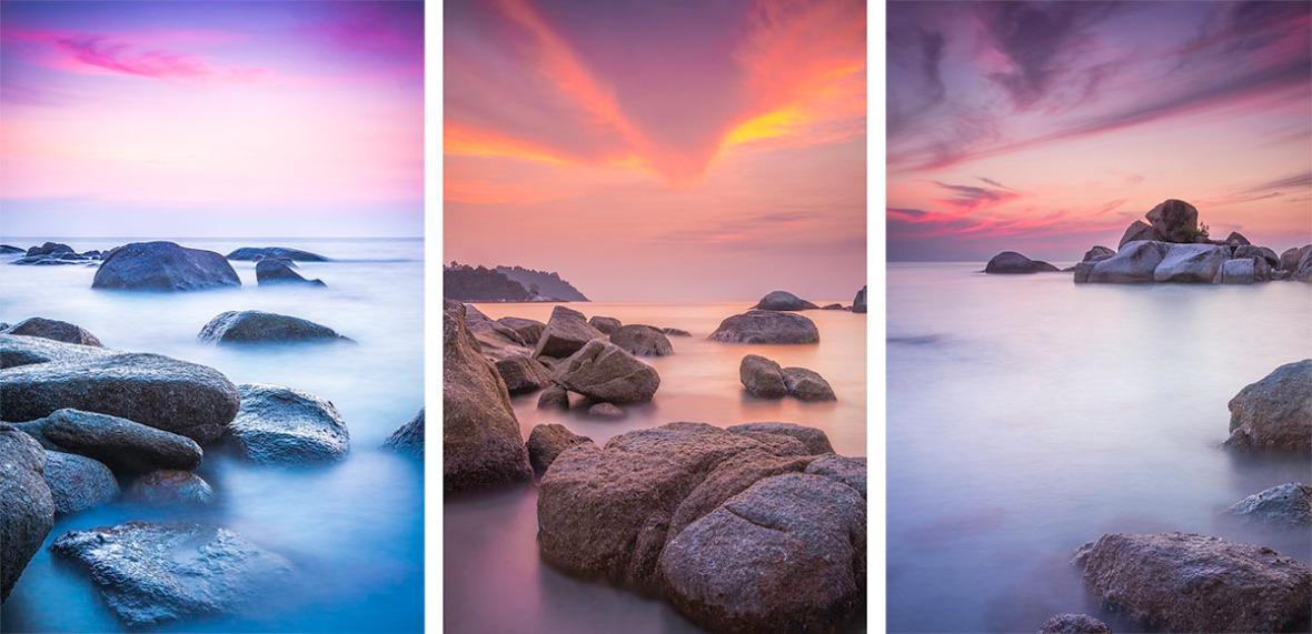 Evening sunset landscape photography