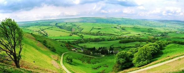 Panorama Landscape Scenery of Wales, UK