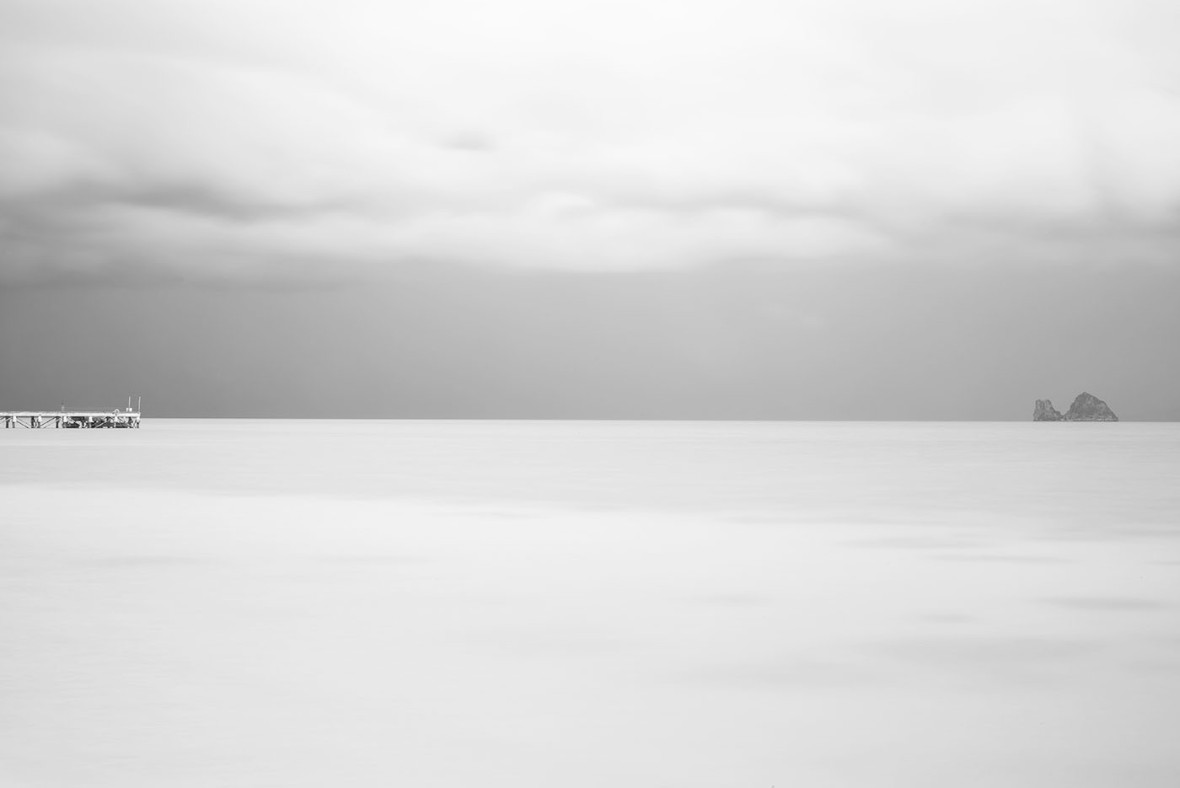 Ocean photography in black and white