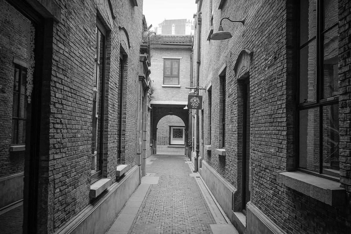 Black and White Streetscape